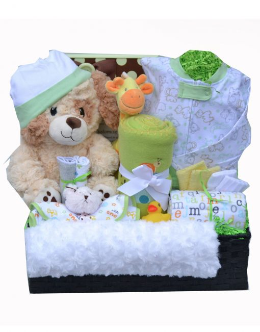 Stork Baby Gift Baskets Reviews : Stork s deluxe neutral unique gift baskets